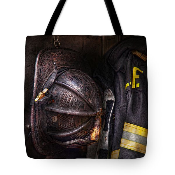 Fireman - Worn And Used Tote Bag