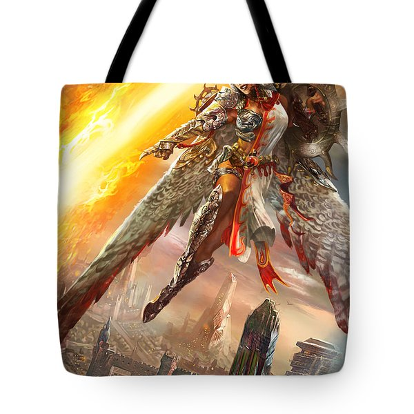 Firemane Avenger Promo Tote Bag by Ryan Barger