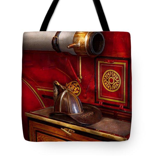 Firemen - An Elegant Job  Tote Bag by Mike Savad