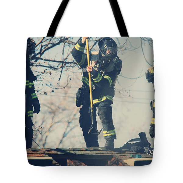Firemen Tote Bag by Laurie Search