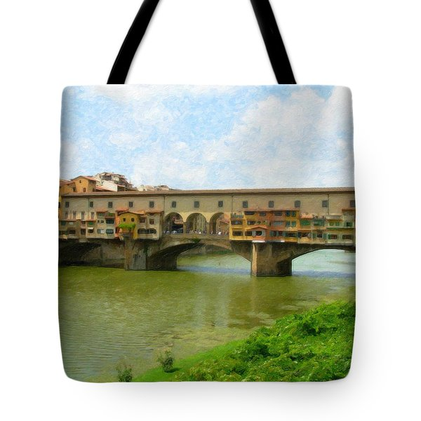 Firenze Bridge Itl2153 Tote Bag