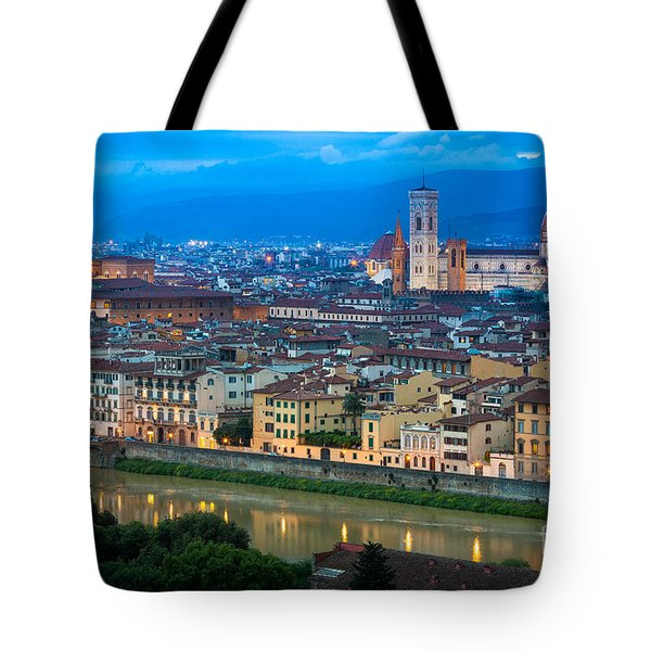 Firenze By Night Tote Bag by Inge Johnsson