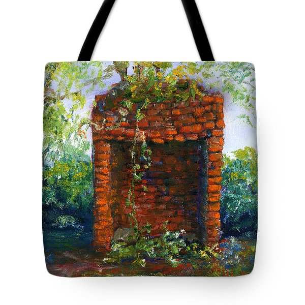 Fireplace At Melrose Plantation Louisiana Tote Bag