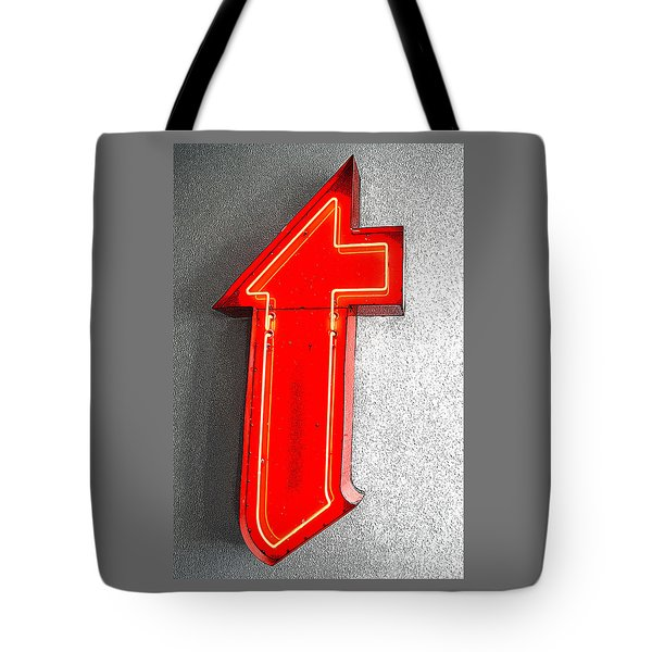 Firestone Building Red Neon T Tote Bag