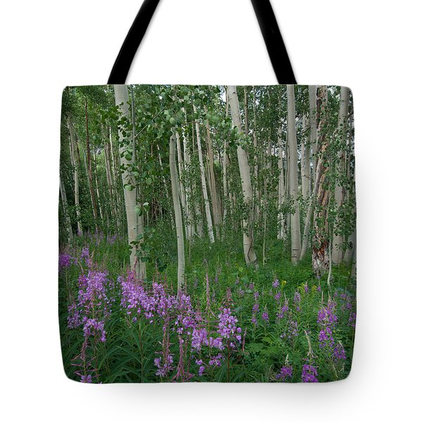 Fireweed And Aspen Tote Bag