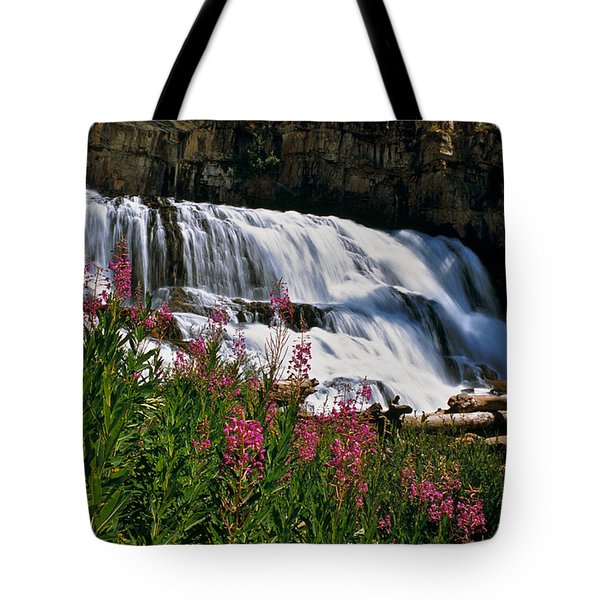 Fireweed Blooms Along The Banks Of Granite Creek Wyoming Tote Bag
