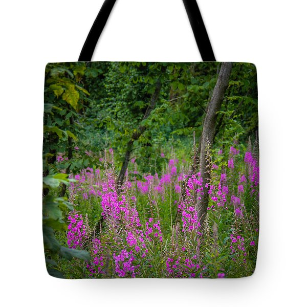 Fireweed In The Irish Countryside Tote Bag