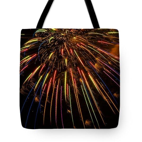 Firework Indian Headdress Tote Bag
