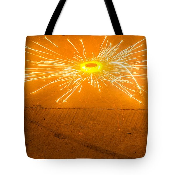 Firework Wheel Tote Bag by Image World