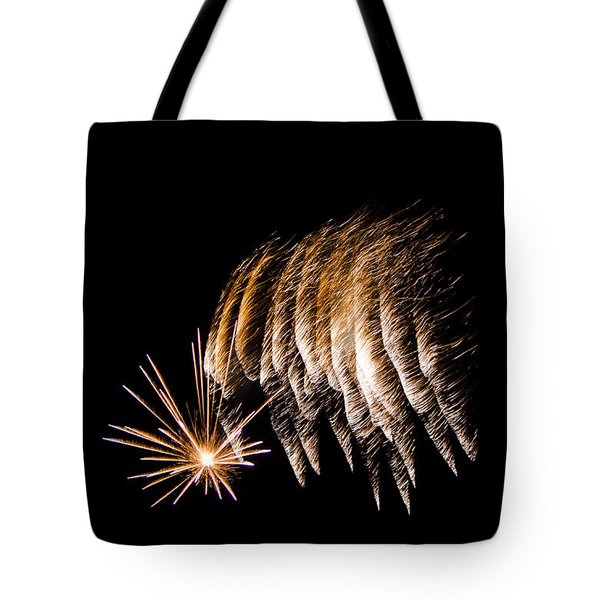 Tote Bag featuring the photograph Fireworks 1 by Susan  McMenamin