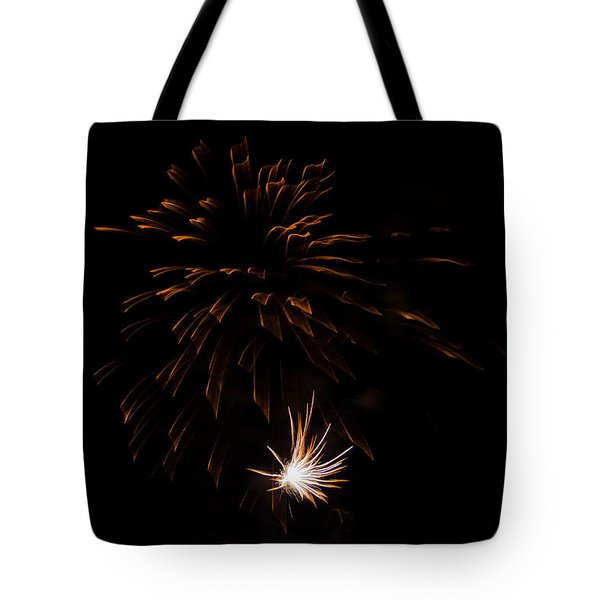 Tote Bag featuring the photograph Fireworks 2 by Susan  McMenamin