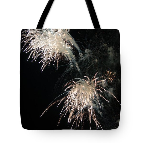 Tote Bag featuring the photograph Fireworks 3 by Susan  McMenamin