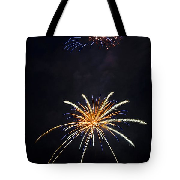 Fireworks 3 The Spaceship Tote Bag by Dianne Phelps