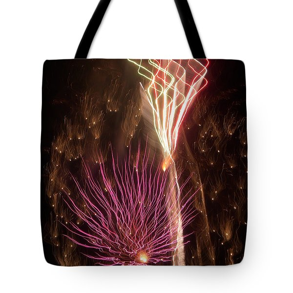 Fireworks Tote Bag by Aimee L Maher Photography and Art Visit ALMGallerydotcom