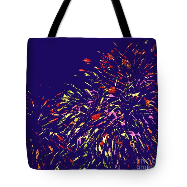 Fireworks Tote Bag by Elizabeth Blair-Nussbaum