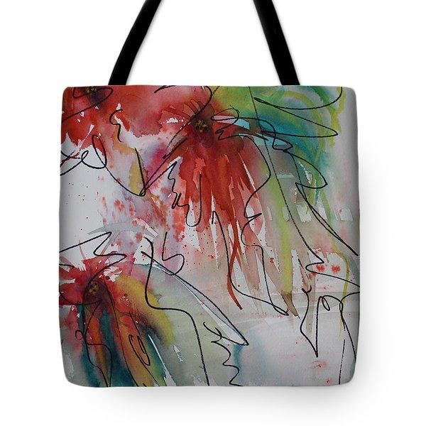 Fireworks Tote Bag by Nancy Gebhardt