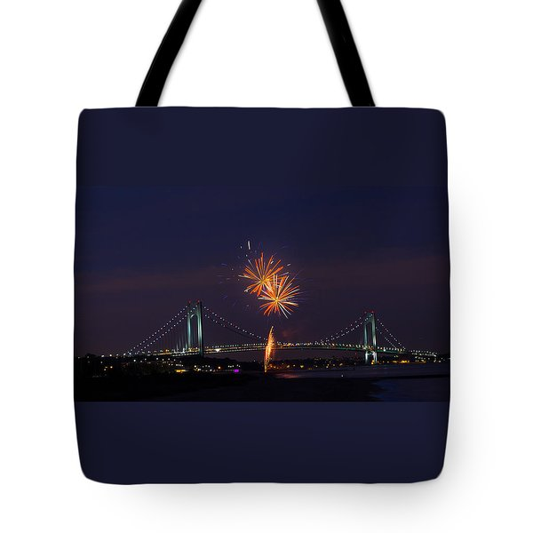 Fireworks On Staten Island South Beach Tote Bag