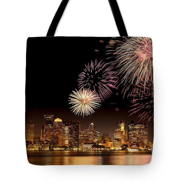 Fireworks Over Boston Harbor Tote Bag