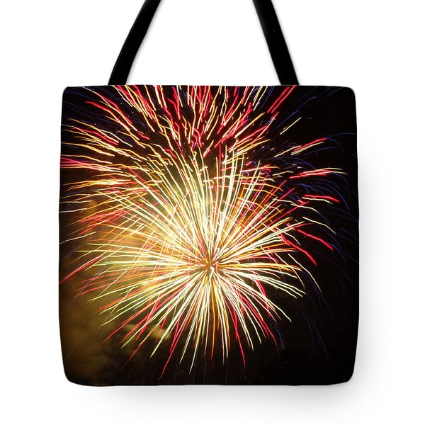 Fireworks Over Chesterbrook Tote Bag by Michael Porchik