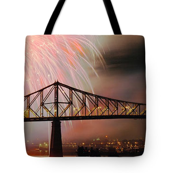 Fireworks Over The Jacques Cartier Tote Bag