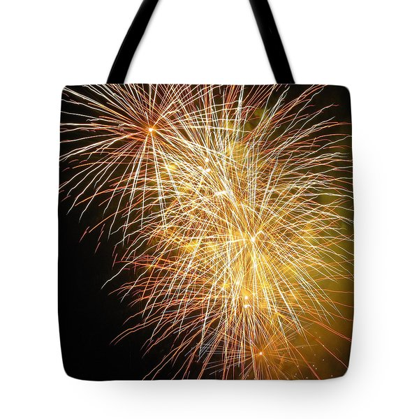 Tote Bag featuring the photograph Fireworks by Ramona Johnston