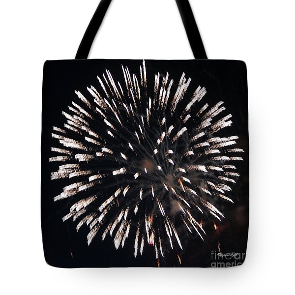 Fireworks Series X Tote Bag by Suzanne Gaff