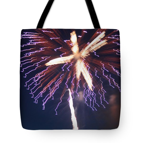 Fireworks Series Xii Tote Bag by Suzanne Gaff