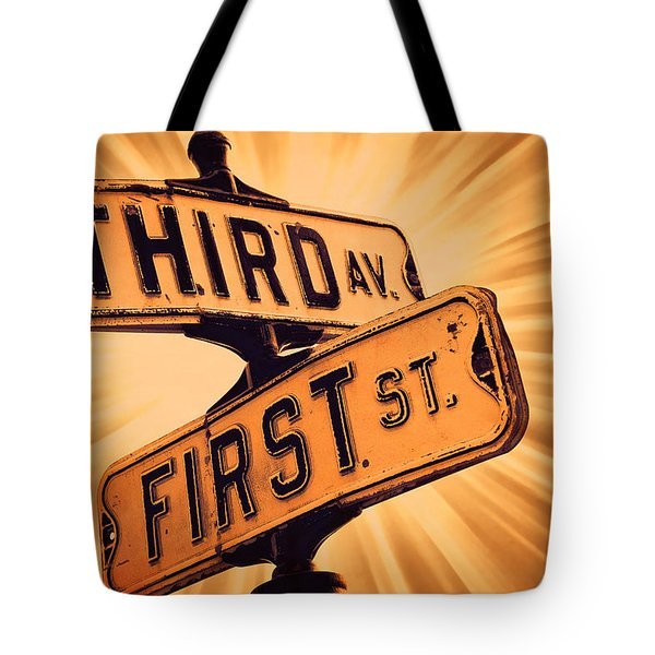 First And Third Tote Bag