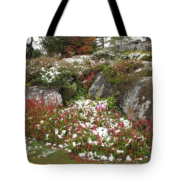First Autumn Snow Tote Bag