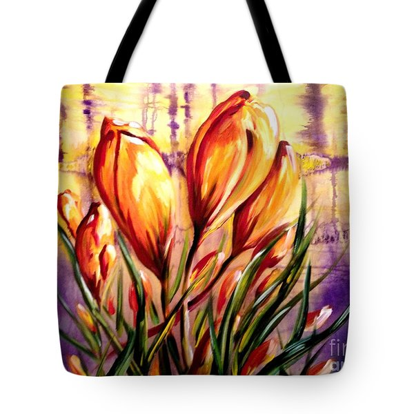 First Blooms Of Spring Tote Bag