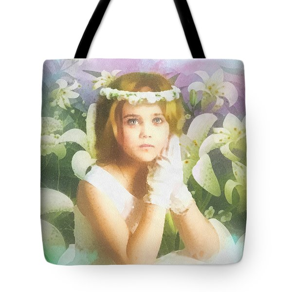 First Communion Tote Bag by Mo T