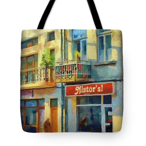 First Customer Of The Day Tote Bag by Jeff Kolker
