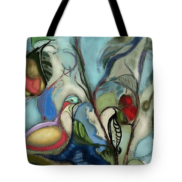 First Day Of Christmas Tote Bag by Carrie Joy Byrnes
