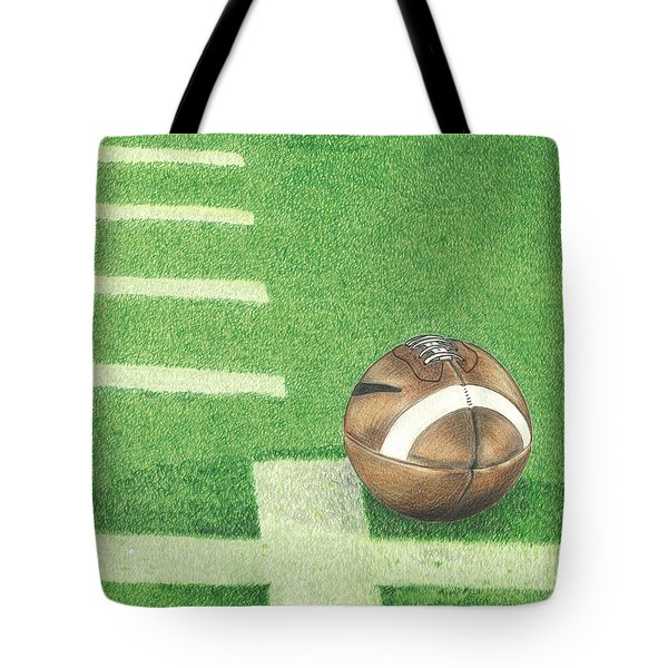 First Down Tote Bag by Troy Levesque