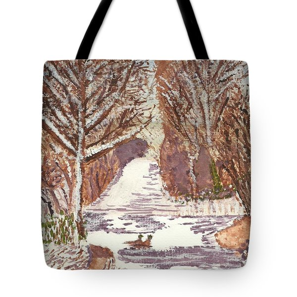 First Footprints Tote Bag by Tracey Williams
