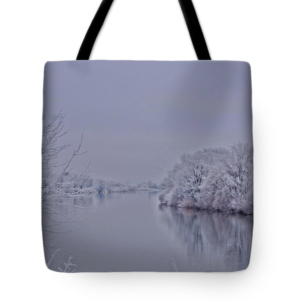 Tote Bag featuring the photograph First Frost by Lynn Hopwood