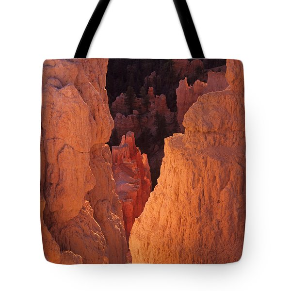 Tote Bag featuring the photograph First Light On Hoodoos by Susan Rovira