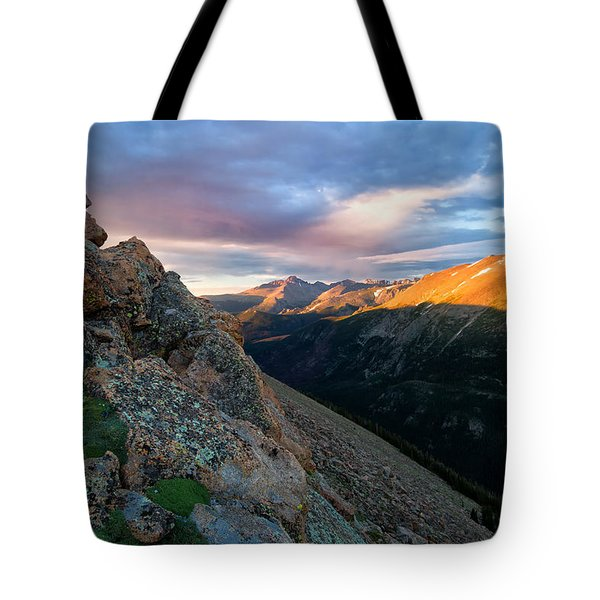 First Light On The Mountain Tote Bag