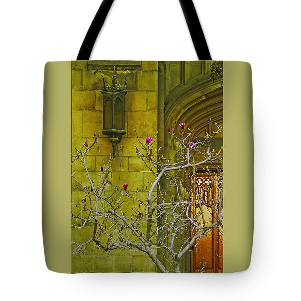 First Methodist Episcopal Church In Pasadena 1923 Tote Bag by Ben and Raisa Gertsberg