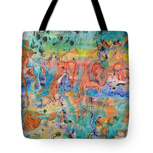 First Microseconds Tote Bag by Regina Valluzzi