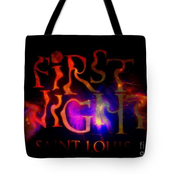 First Night Sign 2 Tote Bag by Kelly Awad