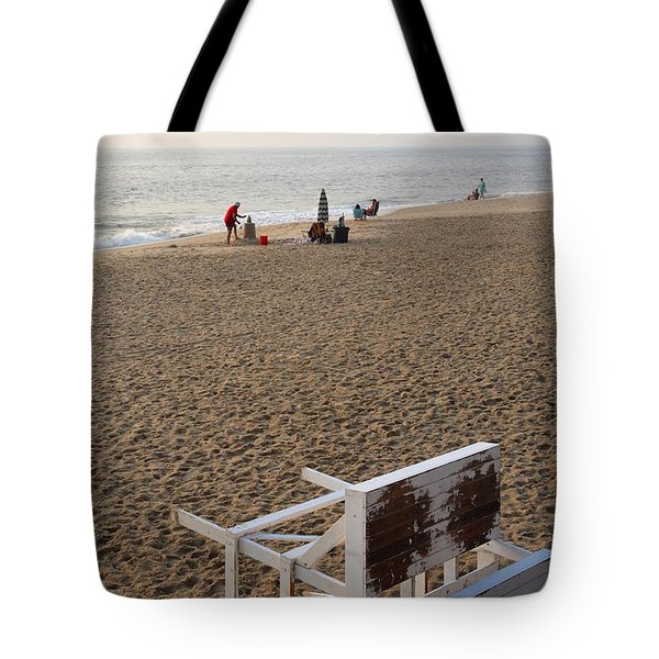 First On The Beach At Bethany Beach In Delaware Tote Bag