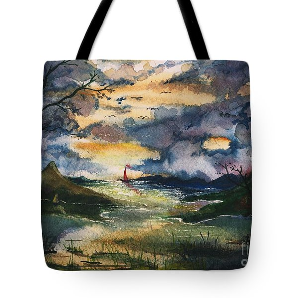 First One Out Of The Cove  Tote Bag
