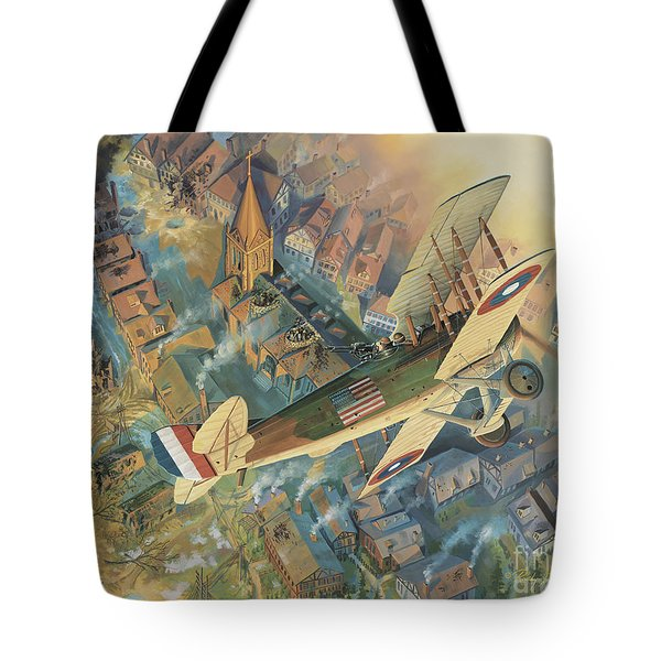 First Over The Front Tote Bag by Randy Green