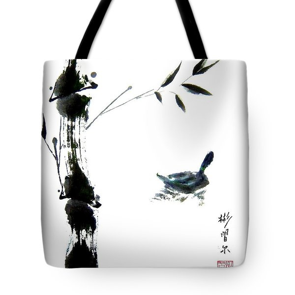 Tote Bag featuring the painting First Reflection by Bill Searle