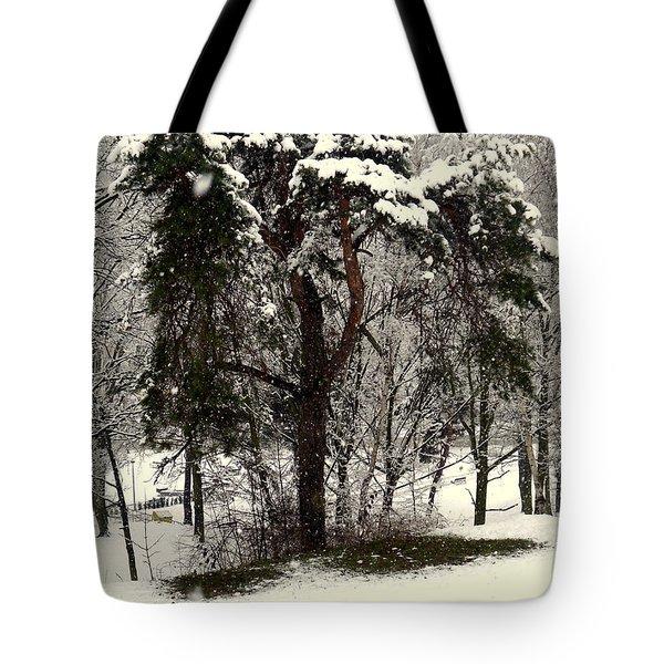 First Snow Tote Bag by Henryk Gorecki