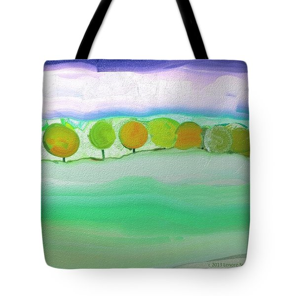 First Snow Tote Bag by Lenore Senior