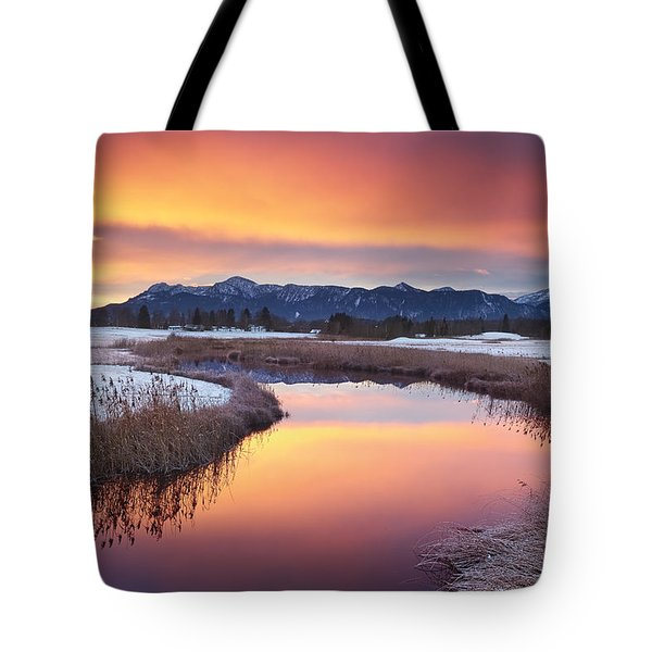 First Snow Tote Bag by Michael Breitung