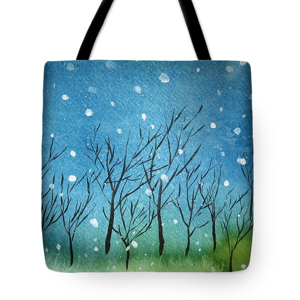 First Snow Tote Bag by Oiyee At Oystudio