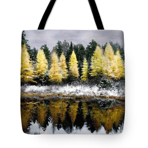 Tamarack Under A Painted Sky Tote Bag